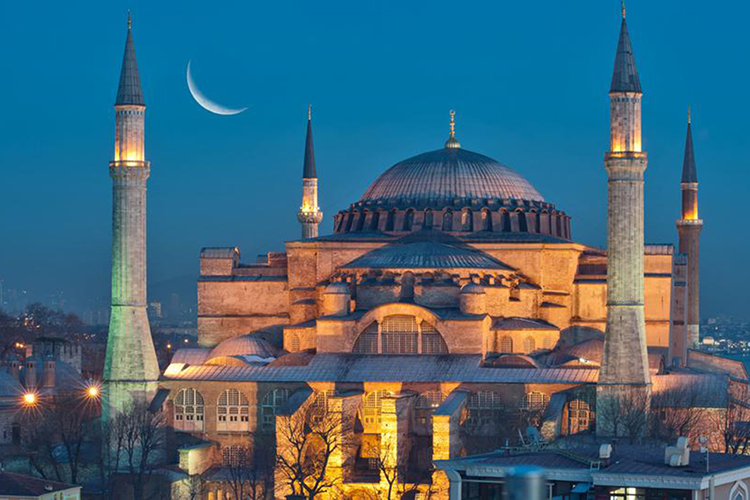 hagia sophia diventa una moschea